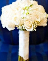 cream roses with pearl beads