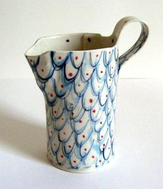 Fish scale glaze sketch, inspired by this lovely pitcher by Alice Garland
