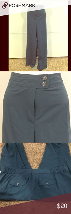 24W Teal Slacks from Dressbarn!  NWT! PLUS-Size! Double button.  Perfect for work!  Dress up or down. Dress Barn Pants