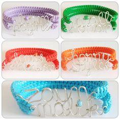 One Direction Names Two Skinny Cobra Bracelets (Friendship bracelets, Zayn Harry Louis Liam Niall) $10.00