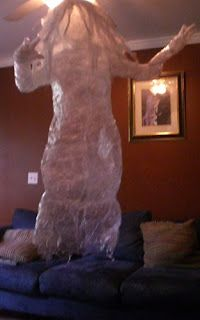 How-to make package tape ghosts