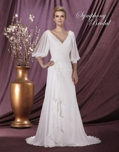 Captivating wedding dress choice for a mature bride Symphony Bridal