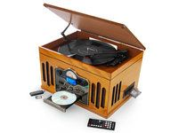 Retro Platenspeler 6 in 1 Music Center Turntable, Usb, Old School, Music Instruments, Electronics, Retro, Home, Musical Instruments, Record Player