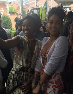Justine Skye and Rihanna at Pre Grammys Roc Nation Brunch in Los Angeles, February 7th 2015