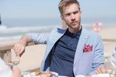 #blazek #cotton #summerjacket #summersuit Summer Jacket, Summer Suits, Lisbon, Raincoat, Slim, Journal, Cotton, Jackets, Travel