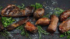 Nakladanie a údenie mäsa - Udiarne. Baked Potato, Sprouts, Steak, Food And Drink, Potatoes, Baking, Vegetables, Ethnic Recipes, Potato