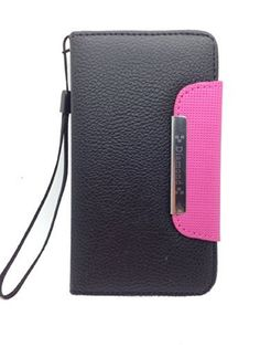 iviva presents Samsung Galaxy Exhibit T599 Luxury Magnetic Wallet PU Leather Credit Card Holder Flip Case Cover + A Clear Screen Protector + A Stylus Pen + 3.5mm Anti-dust Plug (Black/ Hot Pink), http://www.amazon.com/dp/B00MJPG2BA/ref=cm_sw_r_pi_awdm_FeVmub1FH4R7F