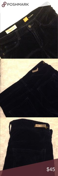 👖Anthropologie Blue Velvet Like Pants SZ 28👖 Dark Blue - Soft/Velvet Like Material. Pilcro and the Letterpress, Skinnies. Great Condition with only the Label falling off and a Tiny Imperfection on the Pocket. See the Last Photo. It may Come Off, Not Sure What it is. Does Not Affect the Look of the Pants. Lots of Pants Posted Left. Thank You! Anthropologie Pants Skinny