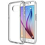 Galaxy S6 Case Trianium [Clear Cushion] Premium Protective Case for Samsung Galaxy S6 Case Bumper Scratch Resistant Shock-Absorbing frame and Hard Back Panel  Clear