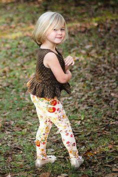 Little Lizard, Little Girl Leggings, Girls Leggings, Woven Fabric, Milan, Peplum, Confirmation Page, 12 Months, A4