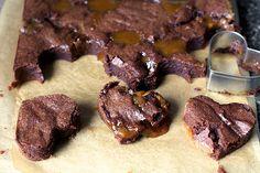 runny salted caramel brownies
