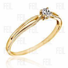 Sárga arany eljegyzési gyűrű WESAu-140