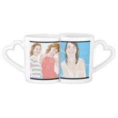 Customizable Lovers' Mug Instagram Add 4 Photos #zazzle #colorbindery #giftideas #coolproducts #productoftheweek