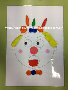 Rincón de una maestra: Unos divertidos payasos Blog, Art Corner, Paint Colours, Clowns, Hilarious