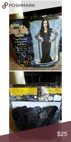 💥BRAND NEW!💥 🕷 Adams Family Costume 🕸 💥BRAND NEW!! BOUGHT but NEVER USED!Bought at a Costume Store💥  ▫Size Small ▫Color: Black ▫Dress: Faux Satin, Lace ALL around from Arms, Shoulders onto the wrist. PLUS a Dangling Lace gracefully falls down. (Just like the picture on the packaging) ✔VERY NICE MATERIAL👌 Not Cheap 😁 ⚠Does not come w/ wig⚠  🚭SMOKE FREE & PET FREE HOME🔆  🤝REASONABLE OFFERS ARE WELCOME🤝  🛂SAME DAY SHIPPING IF ORDER IS PLACED BY 🕘9AM (EST)  ⛔FOR SECURITY PURPOSES I…