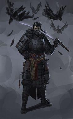 Black crow samurai stronghold guard