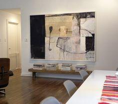 Matt & Mary Emma Hawthorne - Midcentury - Dining Room - dallas - by Sarah Greenman Modern Art, Contemporary Art, Big Wall Art, Art Moderne, Art Abstrait, Art Design, Design Ideas, Painting Inspiration, Home Art
