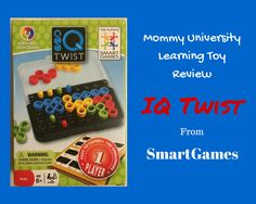 Brain Boosting Fun with IQ Twist From SmartGames a review by Mommy University at www.mommyuniversitynj.com #toyreview #mommyuniversity #learningthroughplay