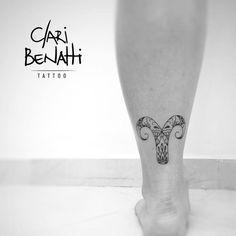 Ornamental Aries Tattoo by Clari Benatti