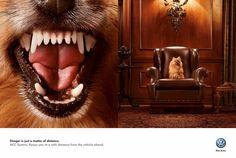Danger is only a matter of distance Volkswagen: Dog