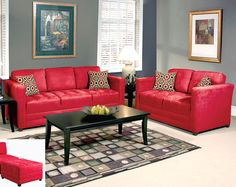 Sienna Red Sofa & Love Seat #AFPinspiredHome