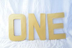 ONE Metallic 8 Stand-Up Letters by BaileyBegonia on Etsy