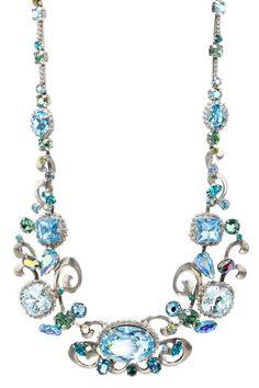 Sorrelli  Ocean Bold Crystal Swirl Design Necklace