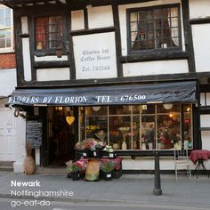 A half=timbered building in Newark-upon-Trent, Nottinghamshire, England. Travel Around The World, Around The Worlds, Shop Fronts, Nottingham, King Charles, Wow Products, Leicester, Luxury Travel, Aunt
