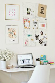A bright and stylish workspace that would be perfect for the mature tween or teenager looking to add a little bit of chic to their space.
