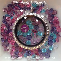 Have some fun with colour and add some sparkle to your Wanderlust Locket