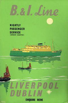 1950 British and Irish Steam Packet Company and Cunard Line