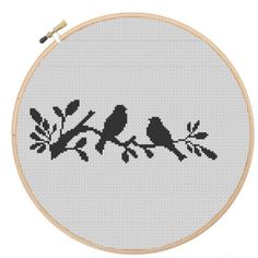 Birds Silhouette, Cross Stitch, Bookmark, Silhouette, PDF, Instant Download…