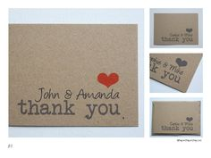 100% recycled kraft thank you cards