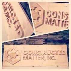 Constructed Matter CNC pine sign