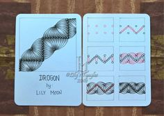 Drogon pattern by  Lily Moon Zentangle