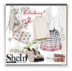 """""""Shein 4"""" by aida-1999 ❤ liked on Polyvore featuring LSA International, TIBI, Yves Saint Laurent and tarte"""