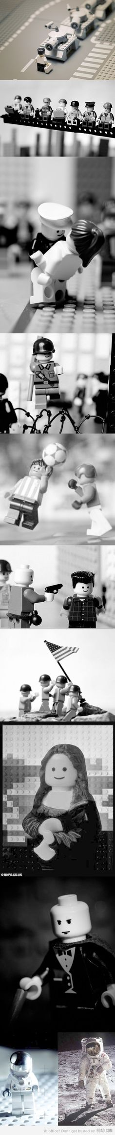 Lego recreation of famous pics