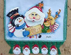 Pano de copa com pintura porcelanizada Tole Painting, Fabric Painting, Christmas 2017, Christmas Diy, Beaded Christmas Ornaments, Stencils, Projects To Try, Quilts, Holiday Decor