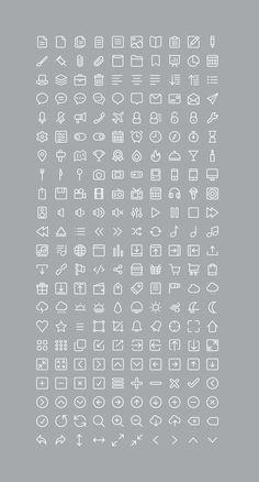 [PSD] 220 Glyph Icons - 365psd