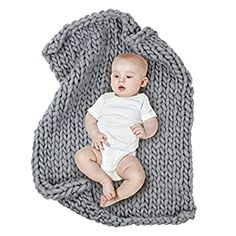 """Perfect for your Baby and Nursery MHJY Chunky Knit Blanket for Baby Photo Props Blanket Newborn Photography Backdrop Rugs Newborn Photo Shoot Blanket,MHJY Chunky Knit Blanket for Baby Photo Props Blanket Newborn Photography Backdrop Rugs Newborn Photo Shoot Blanket, ❤ 【Material】: Handmade thick yarn,soft, comfortable and breathable. ❤ 【Size】:Size 19.7*19.7 inch""""( 50cm x 50cm ) suits for 0..."""