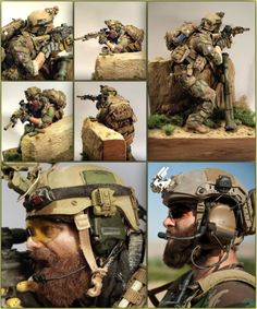 American Soldier 1/6 Scale Model Diorama