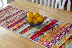 Three in the nest: Quilted Table Runner