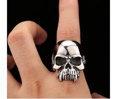 Men's #Skull Ring