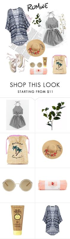 """Untitled #22"" by tatuli-togoxia ❤ liked on Polyvore featuring Wyld Home, Dolce&Gabbana, ban.do, Sun Bum and Pier 1 Imports"