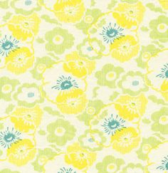 Nicey Jane  Wash Day Ticking  Dandelion  Heather by fabricalacarte, $8.75