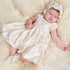 Christening Photography. Sheep skin rugs are soft and make for a beautiful background.