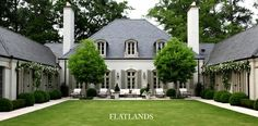 Love when the back of a house is as pretty as the front. French Classic style house with a U-shape layout.