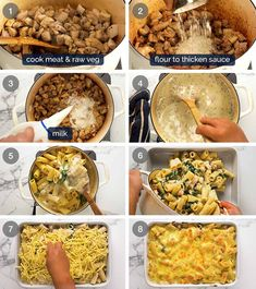 Here's creamy sauce to make a golden, bubbling creamy pasta bake using anything you have! Raw or cooked meat, canned tuna, any fresh, frozen or canned veg. Frozen Spinach, Frozen Peas, How To Cook Pasta, How To Cook Chicken, Vegetable Pasta Bake, Creamy Pasta Bake, Recipetin Eats, Baked Cheese, Just Cooking