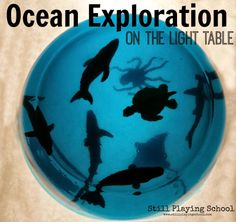 Jello Ocean Exploration on the Light Table: A Safari Ltd. Review & #giveaway from Still Playing School