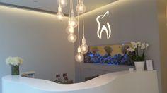 The Reception at K Dental Studios (116 Great Portland Street) www.kdentalstudios.co.uk #fishtank #dental #reception
